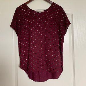 LOFT High-Low short sleeve blouse